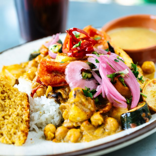 a photo of our curry, a staple at our vegan restaurants denver